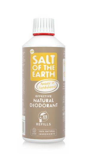 Salt of the Earth – Amber&Sandalwood spray deodorantin täyttöpakkaus 0,5L